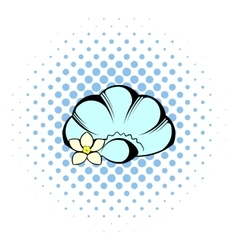 Shell icon comics style vector
