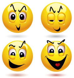 Smiley characters vector