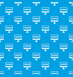 Sound waves pattern seamless blue vector
