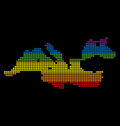 Spectrum pixel lgbt mediterranean sea map vector
