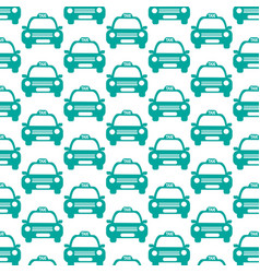 taxi car pattern background vector image