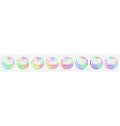 transparent colored soap bubbles vector image