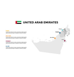 uae map infographic template united arab vector image