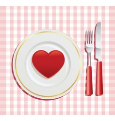 Valentine's day breakfast vector