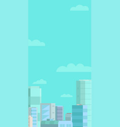 web banner background panorama city and blue sky vector image