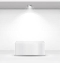 White square podium stand pedestal or platform vector