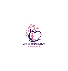 yoga love nature logo design vector image