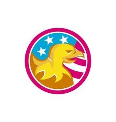 American Bald Eagle USA Flag Circle Retro vector image vector image