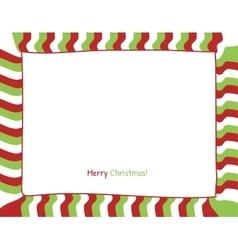 Christmas strip border vector image