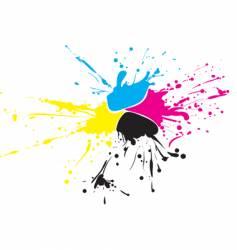 CMYK paint vector image vector image
