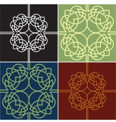 graphic design quads vector image vector image