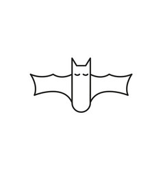 halloween bat icon vector image vector image
