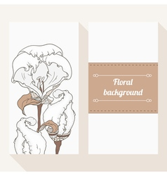 Invitation cards with flowers vector image vector image