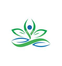 organic beauty spa logo image vector image