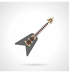 Rock guitar flat color icon vector image vector image