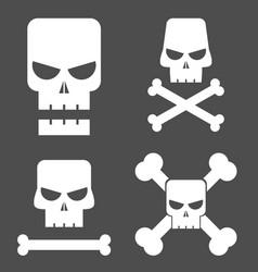 skull set for design vector image