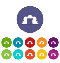 Tent set icons vector image