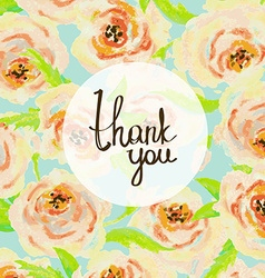 Thank you card floral pastel background vector