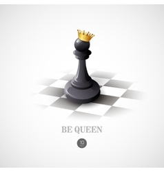 Winning Chess concept background vector image