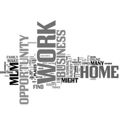 work at home business opportunity mlm text word vector image