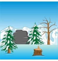 Deserted winter landscape vector image