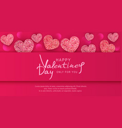 for valentines day background with vector image vector image