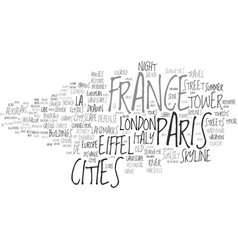 France cities word cloud concept vector