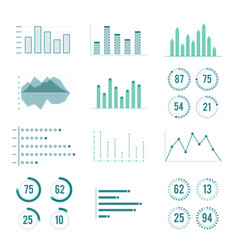 Linear charts graphs and progress bar vector