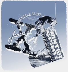 ski jump slope style vector image vector image