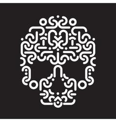 skull design element vector image vector image