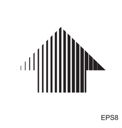 Stripes abstract arrow vector image