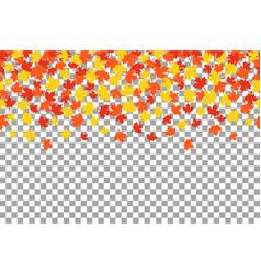 thanksgiving background witn orange autumn leaves vector image