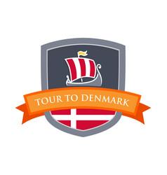 tour to denmark vector image