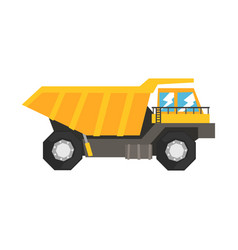 big yellow dump truck heavy industrial machinery vector image vector image