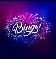 bingo hand written lettering text vector image