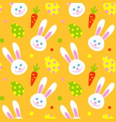 happy adorable rabbit face cartoon character head vector image