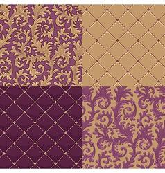 pattern baroque set vector image