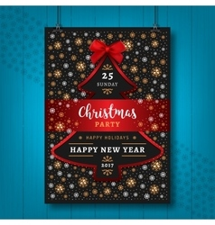 Poster Party Christmas Happy New Year flyer vector image vector image