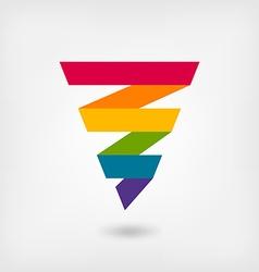 rainbow strip abstract symbol vector image