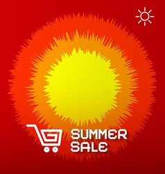 Summer Sale Paper Title on Abstract Red - Orange vector image vector image