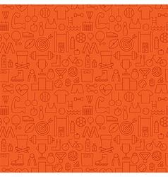 Thin Sport Line Activity Exercise Seamless Orange vector image