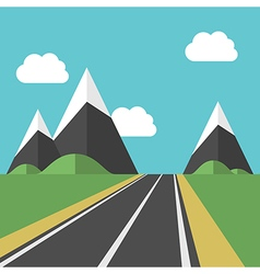 Beautiful landscape with road vector image
