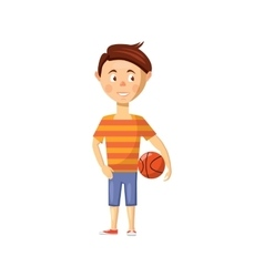 Boy icon in cartoon style vector image