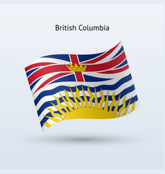canadian province of british columbia flag waving vector image
