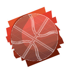 color background with basketball ball with white vector image vector image