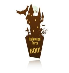 doom castle label vector image