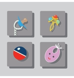 Everything for baby 1 vector image