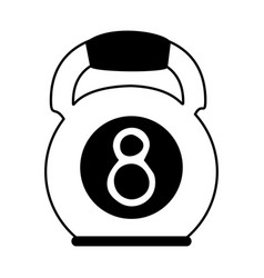 Kettlebell weights icon image vector