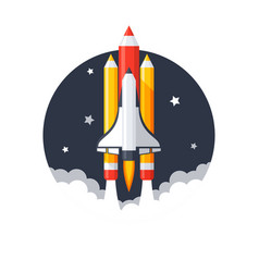 pencil shuttle launch vector image