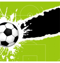 soccer ball on torn paper vector image